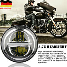 5.75'' Motorrad Rund LED Scheinwerfer Hi/Lo Beam DRL Projektion Für Harley Honda