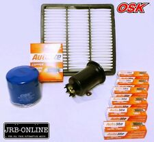 MITSUBISHI PAJERO NJ NK 3.0L V6 6G72 OIL AIR FUEL FILTER KIT+SPARK PLUGS   93-97