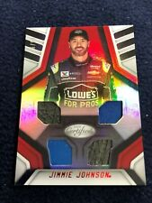 2018 JIMMIE JOHNSON PANINI CERTIFIED RACE USED MATERIAL # 26/99