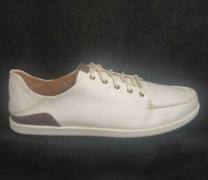 OLUKAI MANOA Shoes off White Toffee Men US 11.5