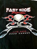 Fast EDDIE Racing Men's T Shirt M Medium Live Hard RACE HARDER