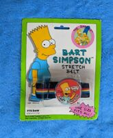 NEW SEALED THE SIMPSONS Stretch Belt Bart 1990 Pyramid Industries TV Cartoon