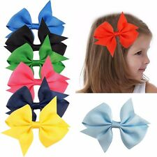 "40 Pcs 4"" Baby Girls Grosgrain Ribbon Boutique Hair Bows For School Girls"