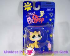 Littlest Pet Shop Single Happiest Yellow Tabby CAT #1035 Rare Retired NIB