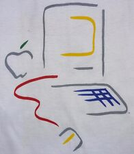 VINTAGE 80's APPLE COMPUTER MACINTOSH MAC T-SHIRT STEVE JOBS XL