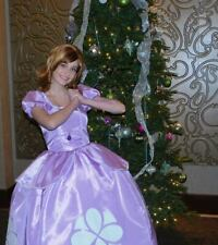 """Sofia the First Dress Gown Costume, Adult or Teen - Your Size Busts 26"""" - 42"""""""