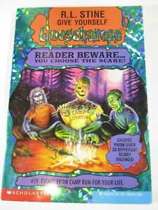 Goosebumps Book No.19 Escape From Camp Run for your Life. Scholastic 1st Print