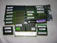 17 COMPUTER RAM MEMORY MODULES OF VARIOUS SIZES UNTESTED BUT S/B WORKING
