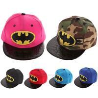 Kids Hip-Hop SnapBack Batman Baseball Cap Children Sports Hats hv2n