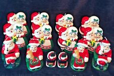 Lot of 14 Christmas Candles Mr and Mrs Santa New Vintage Like