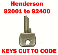 Henderson 92001 to 92400 Garage Door Replacement Keys Cut to Code