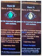 Diablo 3 LEGENDARY GEM SET ALL RANK 25 AND ABOVE, SOME LEVEL 100 softcore mode