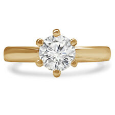 .56 CT SI1 ROUND DIAMOND SOLITAIRE ENGAGEMENT RING 18K YELLOW GOLD
