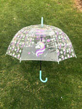 Unicorn Clear Umbrella for Girls  New Rain Umbrellas Long Handle Transparent.