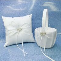 "Crystal Heart Bridal Wedding Party Flower Girl Basket Ring Bearer Pillow 4"" US"