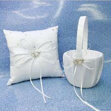 "Crystal Heart Bridal Wedding Party Flower Girl Basket Ring Bearer Pillow 4"" Us"