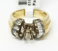 14K Yellow Gold Semi Mount Engagement Ring, Dia 0.85 CT