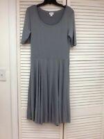 Lularoe Nicole Dress, Gray, Solid NEW Twirl Skirt Small / Medium