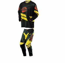 Combo MSR 2015 NXT MX. Mission Pant. Color black/Green/Yellow. Size 34. Jersey L