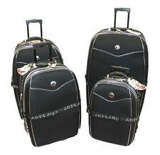 5 tlg Reisekoffer Set schwarz / Koffer erweiterbar Beauty Case 81 71 61 51 cm
