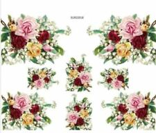 VinTaGe ImaGe MiXeD RoSeS BouQueTs ShaBby WaTerSliDe DeCals