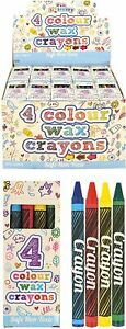 20 Packs of 4 Mini Wax Crayons (Kids Lucky Dip Party Bag Toys Fillers)