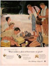 1955 ORIG VINTAGE US BREWERS FOUNDATION MAGAZINE AD ILLUS BY DOUGLASS CROCKWELL