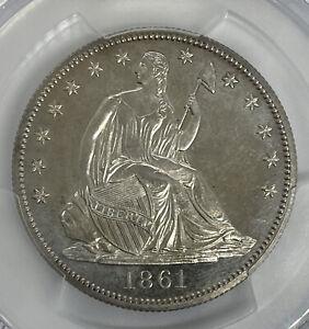 1861 PROOF 50C Liberty Seated Half Dollar PCGS PR63