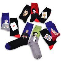 Hombre Retro divertidos Calcetines pintura arte Medias Socks