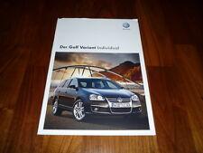 VW Golf Variant Individual Prospekt 11/2008
