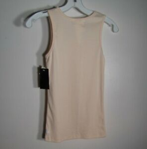 Kamiseta NWT Women's Size XS Peach Sequined & Beaded Embellished Ribbed Tank Top