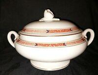 Vintage Royal Worcester Beaufort Tureen Serving Bowl & Lid,Red Rust , Excellent