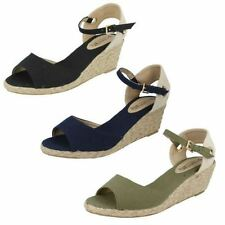 Canvas Buckle Platforms & Wedges for Women