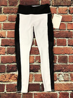 Prewashed Power Hold Fabletics Mila High Waisted Pocket Mesh Legging White BLACK