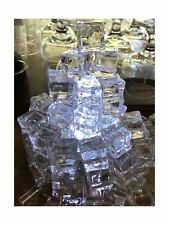 60 PCS Crystal Clear Acrylic Ice Cubes Square Shape, for Photography Props or...