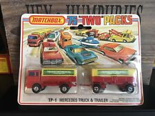 Matchbox Superfast Two Packs TP-1A1.Version OVP never opened mint from 1975