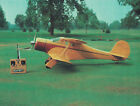 Giant 1/6 Scale Beechcraft D-17 Staggerwing Biplane Plans, Templates, Instr 64ws