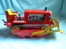 Bulldozer DDR Blechspielzeug MS um 1960/70 Raupe tintoy latta Rarität