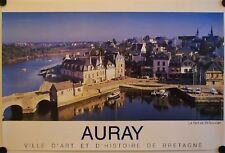 Affiche Tourisme France AURAY Bretagne PORT DE ST GOUSTAN