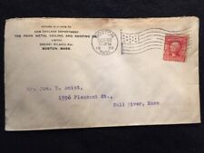 1908  BOSTON, MASS.  ADVERTISING COVER WITH FANCY AMERICAN POSTMARK+SCOTTS# 319!