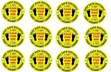 12 Pack | Social Distancing Floor Decals Stickers,11inch KEEP SAFE DISTANCE