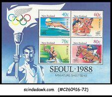 NEW ZEALAND - 1988 OLYMPIC GAMES SEOUL '88 - Miniature sheet MNH