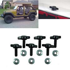 For Jeep Wrangler JK 2007-2015 6Pcs Hard Top Fast Removal Screw Fastener Kit