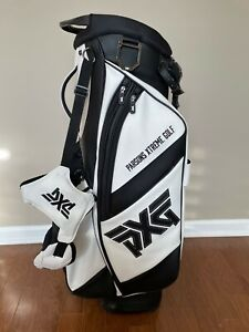 PXG WHITE/BLACK GOLF BAG PERFECT CONDITION, PARSONS EXTREME GOLF