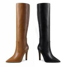 Sexy Women's Pointy Toe Knee Thigh High Boots 10.5cm Heel Party Clubwear 34-43 L