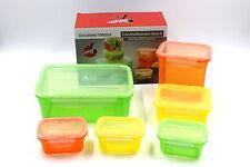 GOURMETmaxx Frischhaltedosen Aufbewahrung Klick it Color 12 teilig