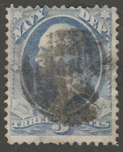 USA Scott #  O 37 Official Navy Department  3 Cent used  ( o37-4)