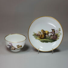 Antique Meissen Marcolini teacup and saucer, 18th century