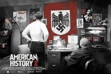 American History X by Vlad Rodriguez Screen Print Poster Mondo Art Movie