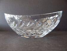 Crystal Bowl Leaf Cut Oval Shape Acid Etch Mark V w/Crown